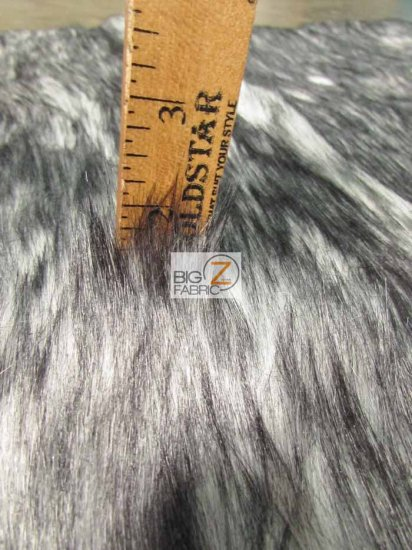 Faux Fake Fur Arctic Alaskan Husky Long Pile Fabric / Blue / Sold By The Yard/EcoshagTM