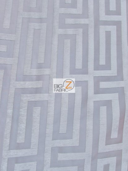 Abstract Trillium Maze Upholstery Fabric / Khaki / Sold By The Yard