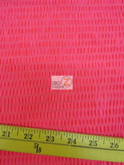 Crinkle Crepe Back Satin Spandex Fabric / Hot Pink / Sold By The Yard