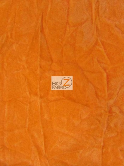 Crush Flocking Upholstery Velour Velvet Fabric / Orange / Sold By The Yard