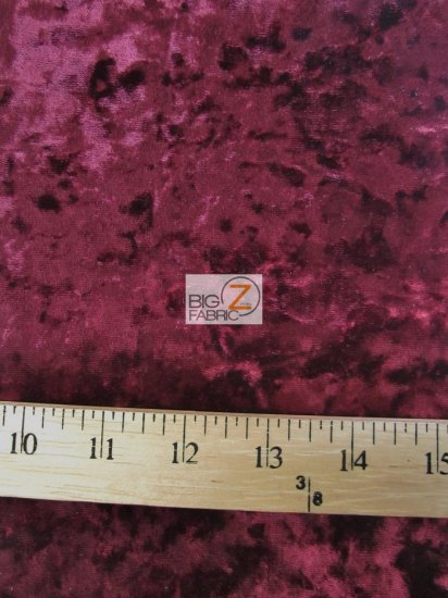 Crushed Stretch Velvet Costume Fabric / Purple / Sold By The Yard