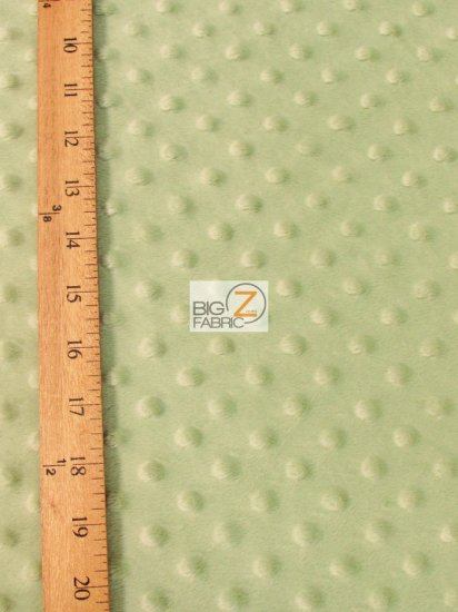 Minky Dimple Dot Baby Soft Fabric / Asparagus / Sold By The Yard