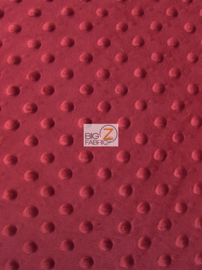 Minky Dimple Dot Baby Soft Fabric / Biking Red / Sold By The Yard
