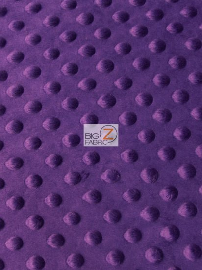 Minky Dimple Dot Baby Soft Fabric / Dark Purple / Sold By The Yard