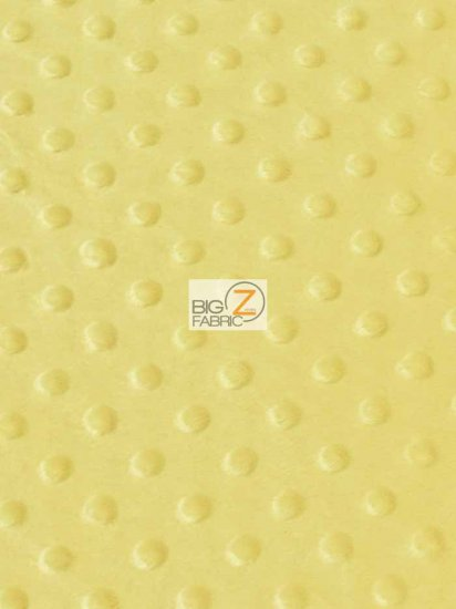 Minky Dimple Dot Baby Soft Fabric / Banana / Sold By The Yard