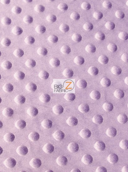 Minky Dimple Dot Baby Soft Fabric / Lilac / Sold By The Yard