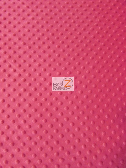 Minky Dimple Dot Baby Soft Fabric / Hot Pink / Sold By The Yard
