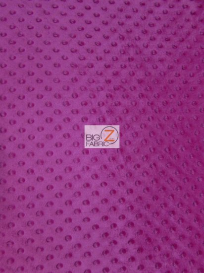 Minky Dimple Dot Baby Soft Fabric / Magenta / Sold By The Yard