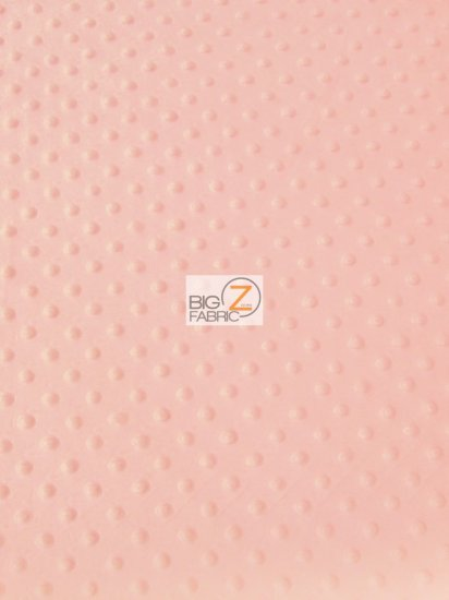 Minky Dimple Dot Baby Soft Fabric / Peach / Sold By The Yard