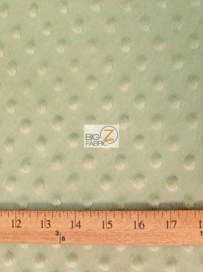 Minky Dimple Dot Baby Soft Fabric / Strawberry / Sold By The Yard
