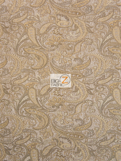 Dragon Paisley Drapery Upholstery Fabric / Natural / Sold By The Yard