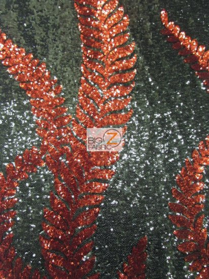 Elsa Floral Sequins Mesh Fabric / Black/Red / Sold By The Yard