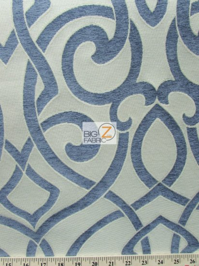 French Abstract Damask Upholstery Fabric / Stone / Sold By The Yard