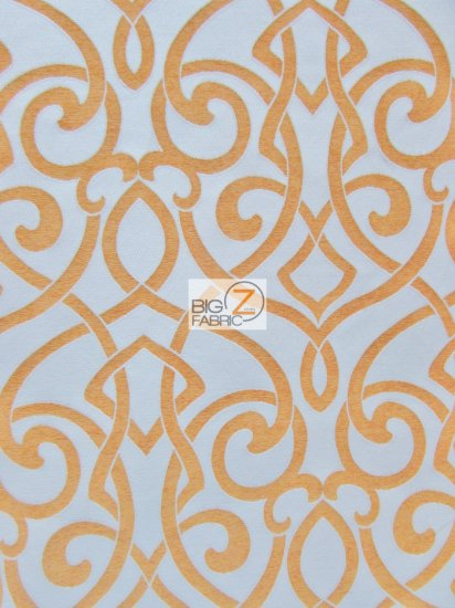 French Abstract Damask Upholstery Fabric / Tango / Sold By The Yard