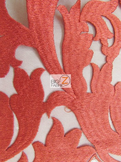 Flaming Cocktail Evening Dress Lace Fabric / Red / Sold By The Yard