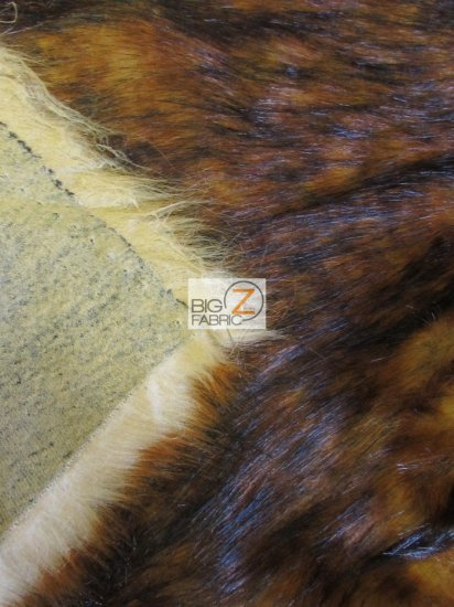 Faux Fake Fur Animal Coat Costume Fabric / Fire Wolf / Sold By The Yard/EcoShagTM