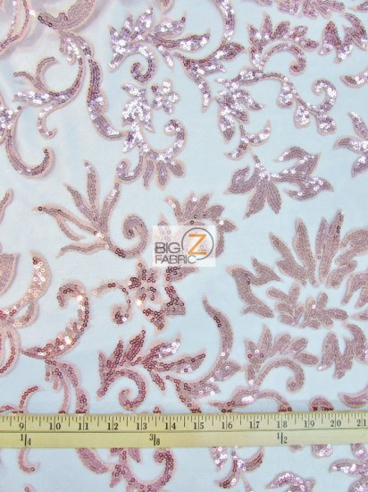 Floral Fashion Eternity Dress Sequins Lace Fabric / Champagne / Sold By The Yard