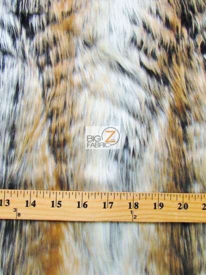 Faux Fake Fur Animal Short Pile Coat Costume Fabric / Forest Deer / Sold By The Yard
