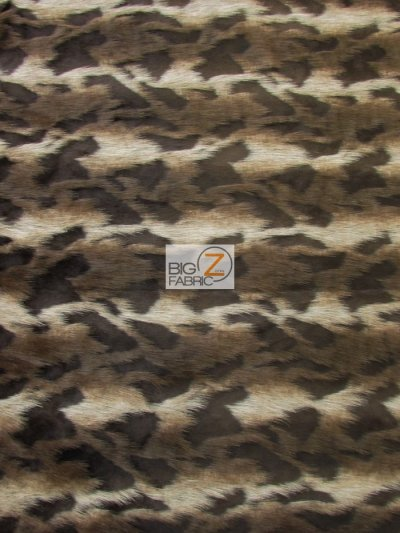 Faux Fake Fur High Low Rabbit Animal Long Pile Fabric / Choco Brown/Silver / Sold By The Yard Closeout!!!