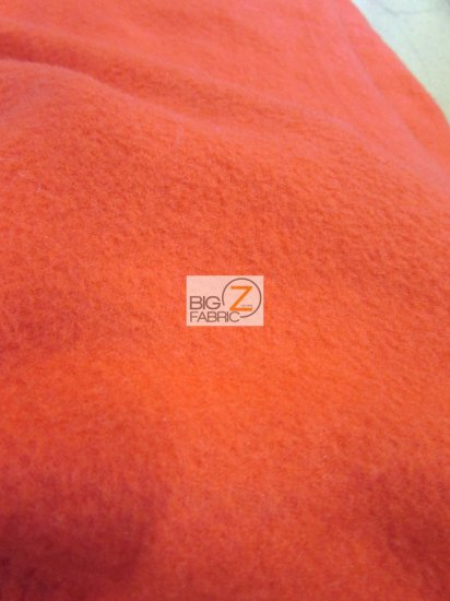 Fleece Fabric Solid / Red / 65 Yard Roll