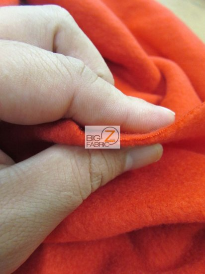 Fleece Fabric Solid / Copper / Sold By The Yard