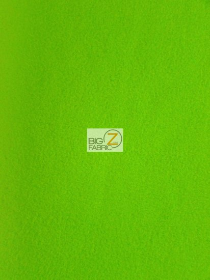 Fleece Fabric Solid / Lime Green / Sold By The Yard