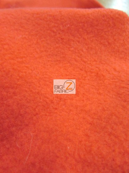 Fleece Fabric Solid / Neon Orange / Sold By The Yard