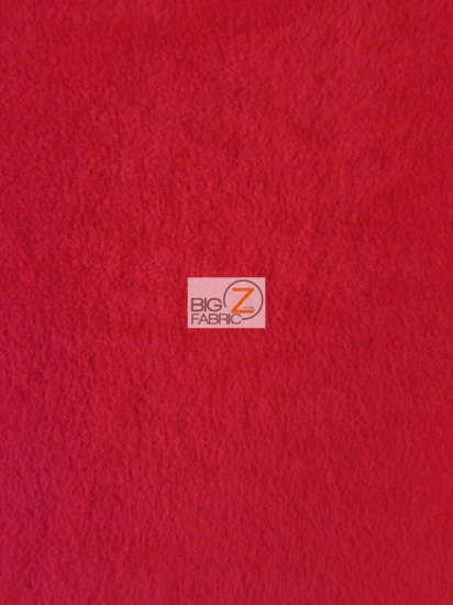 Fleece Fabric Solid / Red / Sold By The Yard