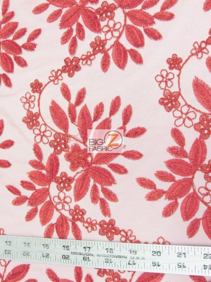 Floral Magnolia Evening Sequins Fabric / Silver / Sold By The Yard