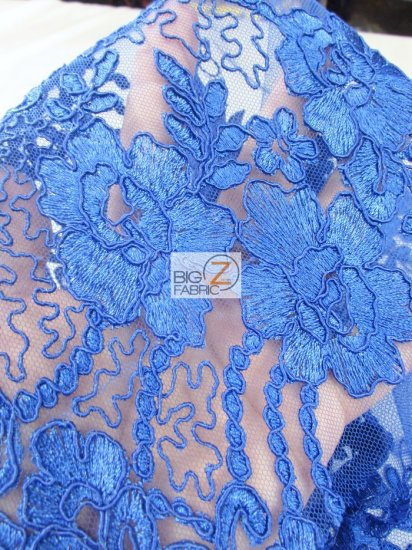 Floral Princess Mesh Lace Fabric / White / Sold By The Yard