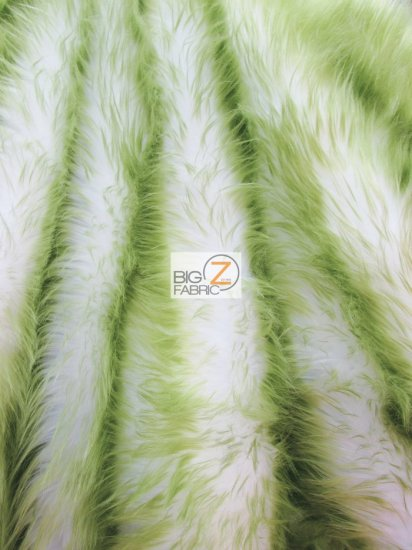 Frozen Shag Faux Fake Fur Long Pile Fabric / Olive / Sold By The Yard