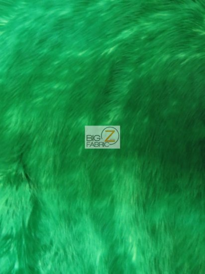 Frozen Shag Faux Fake Fur Long Pile Fabric / Green / Sold By The Yard