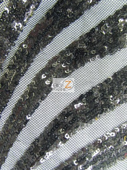 Goldeneye Diamond Sequins Dress Fabric / Black / Sold By The Yard