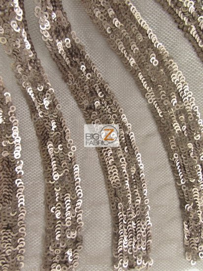 Goldeneye Diamond Sequins Dress Fabric / Light Brown / Sold By The Yard