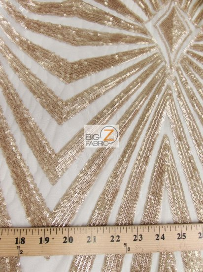 Goldeneye Diamond Sequins Dress Fabric / Taupe / Sold By The Yard