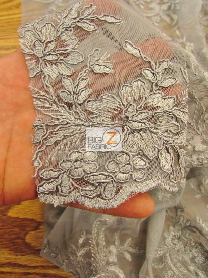 Gorgeous Floral Embroidery Bridal Dress Lace Fabric / Ivory / Sold By The Yard