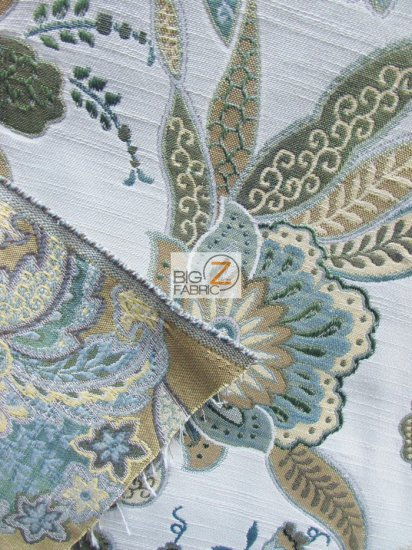 Garden Of Eden Floral Upholstery Fabric / Granite / Sold By The Yard