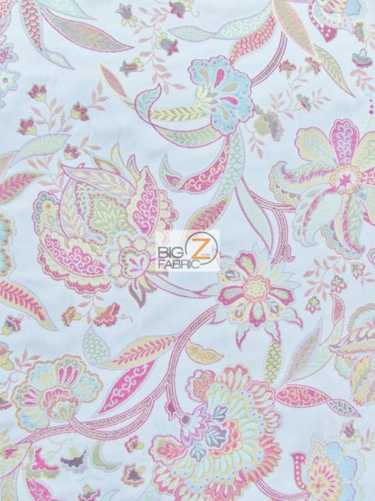 Garden Of Eden Floral Upholstery Fabric / Multi / Sold By The Yard