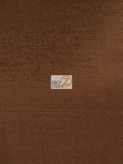 Solid Drapery Upholstery Jewel Velvet Fabric / Chocolate / Sold By The Yard CLOSEOUT!!!!