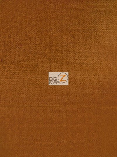 Solid Drapery Upholstery Jewel Velvet Fabric / Copper / Sold By The Yard CLOSEOUT!!!!