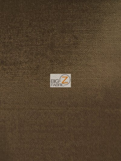 Solid Drapery Upholstery Jewel Velvet Fabric / Espresso / Sold By The Yard CLOSEOUT!!!!