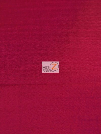 Solid Drapery Upholstery Jewel Velvet Fabric / Fuchsia / Sold By The Yard CLOSEOUT!!!!