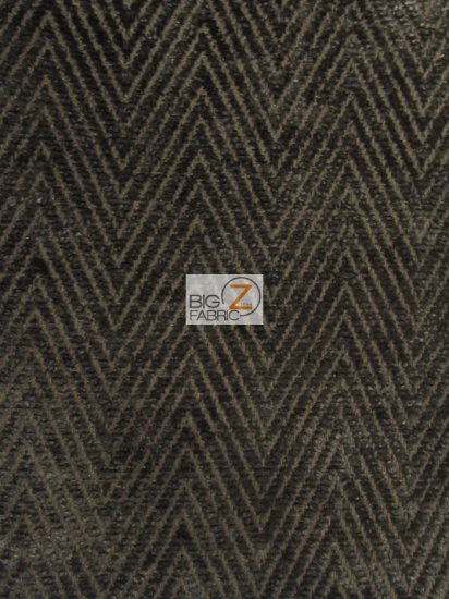Mini Chevron Upholstery Fabric / Charcoal / Sold By The Yard