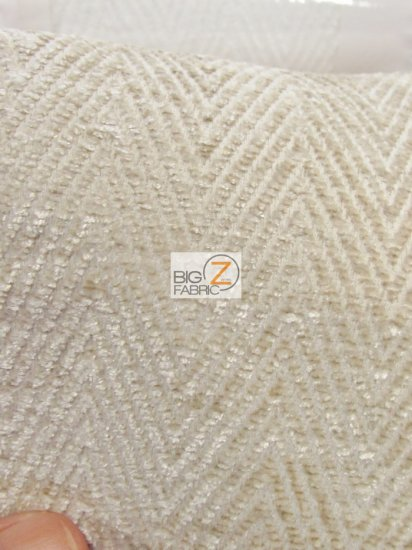 Mini Chevron Upholstery Fabric / Off-White / Sold By The Yard
