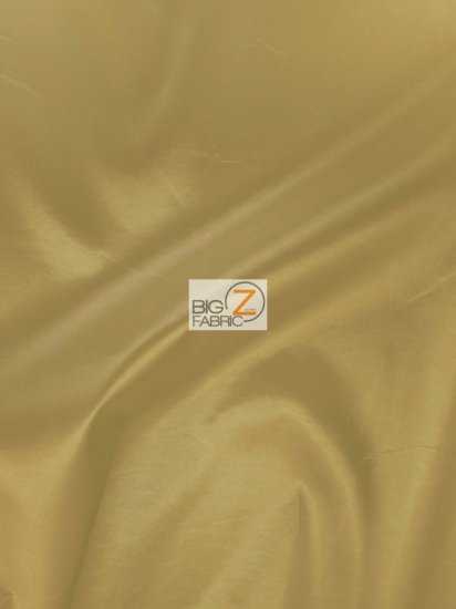 "Solid Polyester Taffeta 58""/60"" Fabric / Gold / Sold By The Yard"