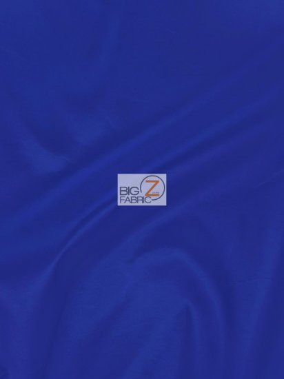 "Solid Polyester Taffeta 58""/60"" Fabric / Royal Blue / Sold By The Yard"