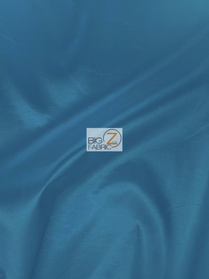 "Solid Polyester Taffeta 58""/60"" Fabric / Teal / Sold By The Yard"