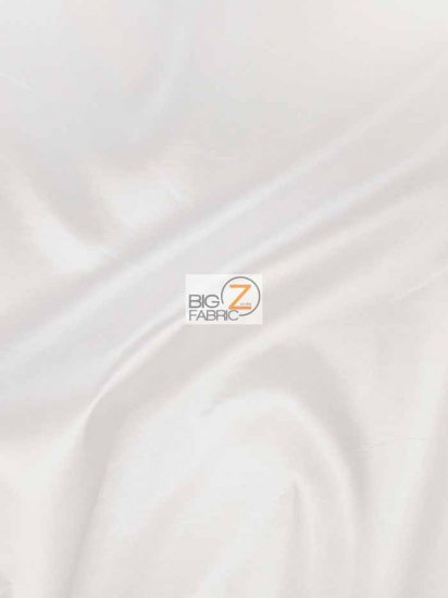 "Solid Polyester Taffeta 58""/60"" Fabric / White / Sold By The Yard"