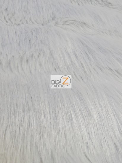 Raven Bird Shaggy Faux Fur Fabric / Smokey Pearl / Sold By The Yard