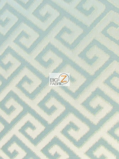 Royal Labyrinth Geometric Upholstery Fabric / Artic / Sold By The Yard
